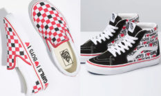 """Converse sneakers with """"I [heart] boys I [heart] girls"""" along the midsole and outer respectively"""