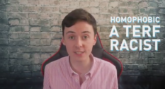 """Darren Grimes, a gay British political commentator, launched a safe space-type group for, he billed, castaways called """"homophobic"""" and """"racist"""". (Screen capture via Twitter)"""