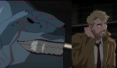DC Comics character King Shark (L, by the way) used to top John Constantine. Yes, really. (Screen captures via Twitter)