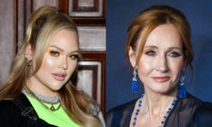NikkieTutorials (L) slammed JK Rowling for her comments on trans folk. (Samir Hussein/WireImage/Jamie McCarthy/Getty Images for Marc Jacobs)