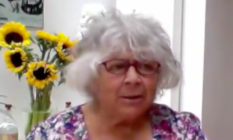 Miriam Margolyes appeared on Loose Women, discussing how lockdown four months-in has been for her. (Screen capture via Twitter)